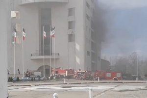 آتش سوزی ساختمان مرکزی شهرداری رشت