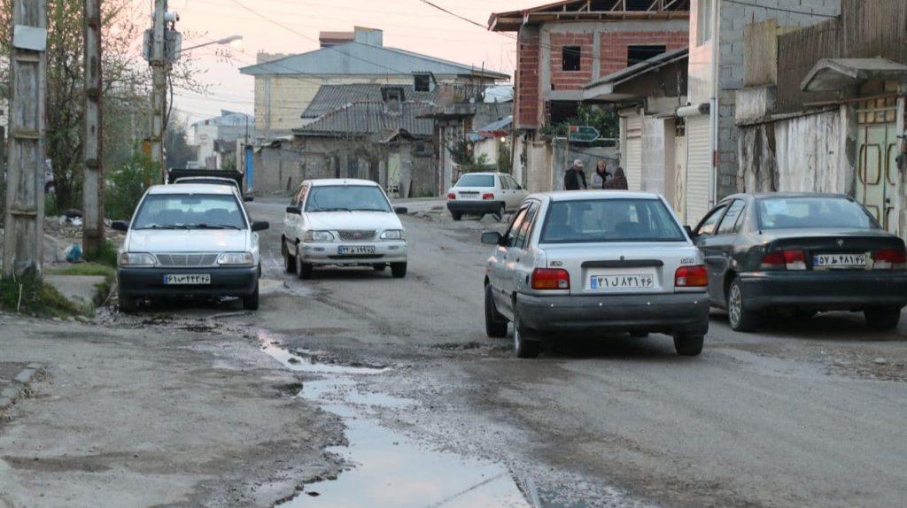 photo 2021 04 01 17 45 26 1024x574 - گزارش میدانی از وضعیت آسفالت و فاضلاب محله فخب رشت