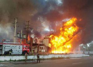 آتش سوزی فروشگاه خاطره در طالب آباد هشت مصدوم برجا گذاشت