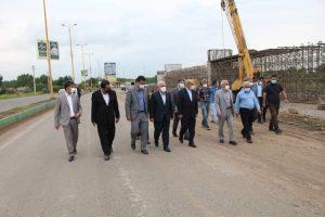 بازدید دبیر شورایعالی مناطق آزاد از طرح ملی اتصال راه آهن به مجتمع بندری کاسپین